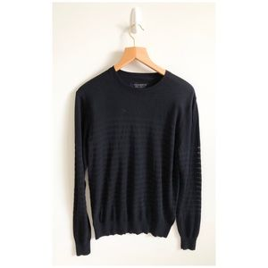 All Saints Black Crewneck Sweater Size Small